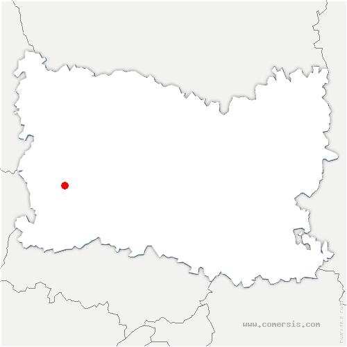 carte de localisation de Vauroux