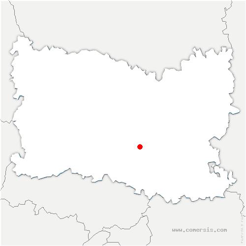 carte de localisation de Verneuil-en-Halatte