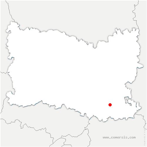 carte de localisation de Versigny