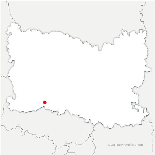 carte de localisation de Villeneuve-les-Sablons