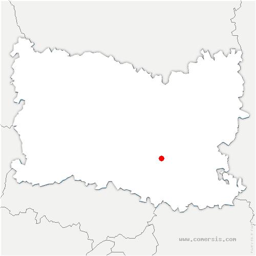 carte de localisation de Villers-Saint-Frambourg-Ognon