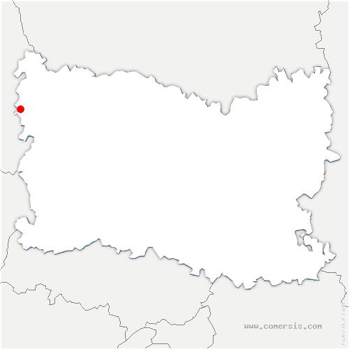 carte de localisation de Villers-Vermont