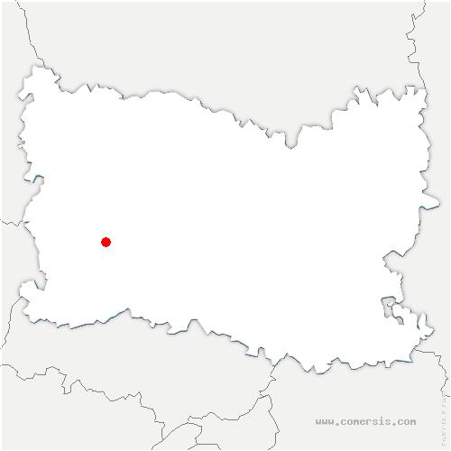carte de localisation de Villotran