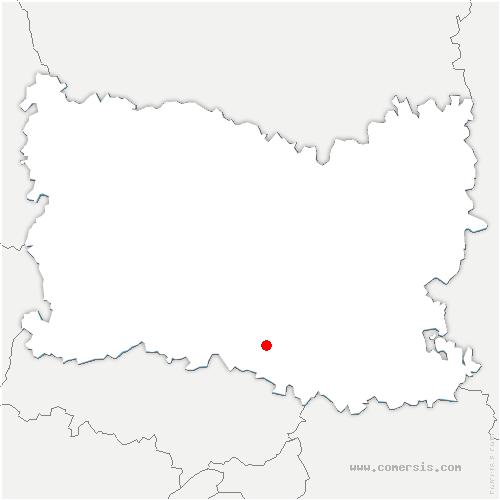 carte de localisation de Vineuil-Saint-Firmin