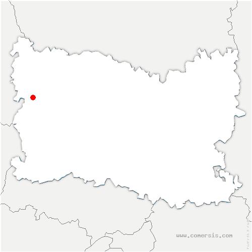 carte de localisation de Wambez