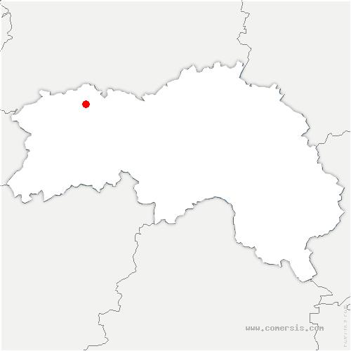 carte de localisation de Athis-Val-de-Rouvre