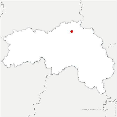 carte de localisation de Aubry-le-Panthou