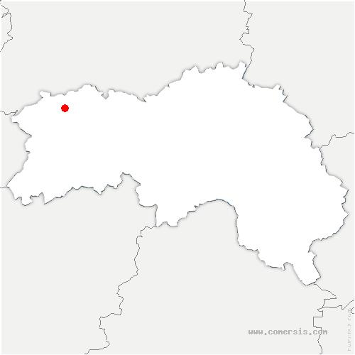 carte de localisation de Aubusson