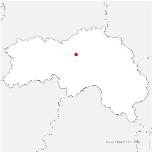 carte de localisation de Aunou-le-Faucon