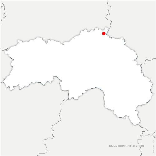 carte de localisation de Avernes-Saint-Gourgon