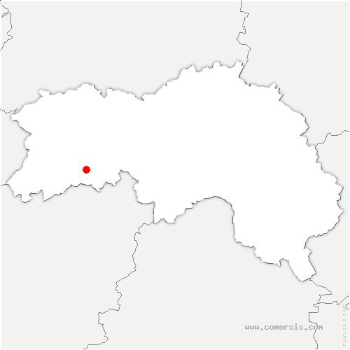 carte de localisation de Bagnoles-de-l'Orne-Normandie