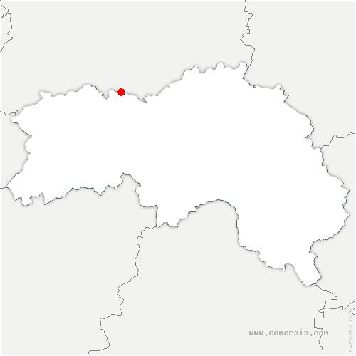 carte de localisation de Bazoches-au-Houlme