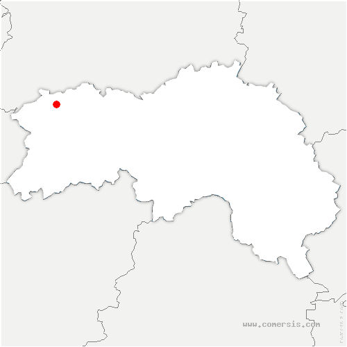 carte de localisation de Bazoque