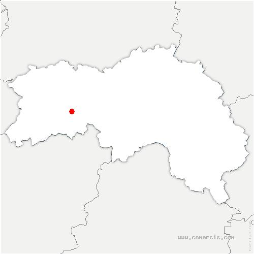 carte de localisation de Beauvain