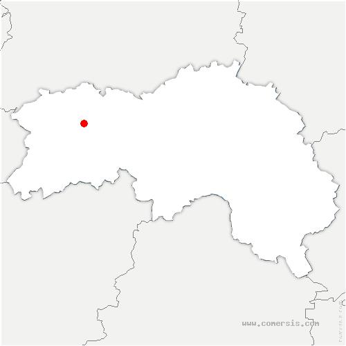 carte de localisation de Bellou-en-Houlme