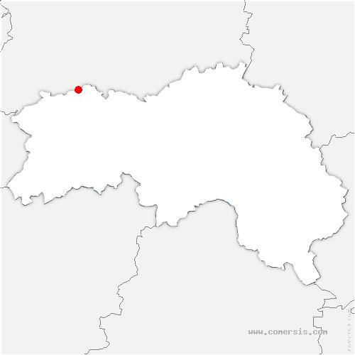 carte de localisation de Berjou