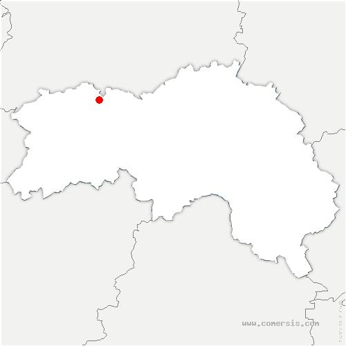 carte de localisation de Bréel