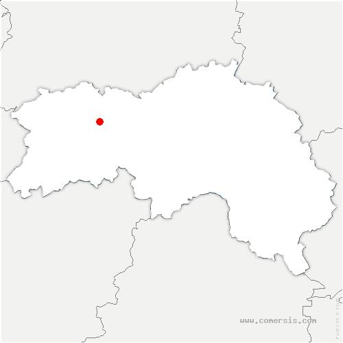 carte de localisation de Briouze