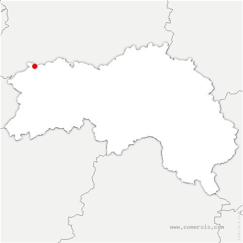 carte de localisation de Caligny