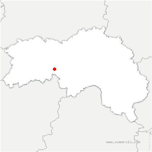 carte de localisation de Champ-de-la-Pierre