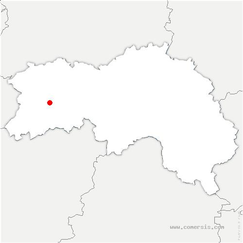 carte de localisation de Champsecret