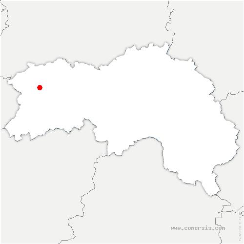 carte de localisation de Chapelle-Biche