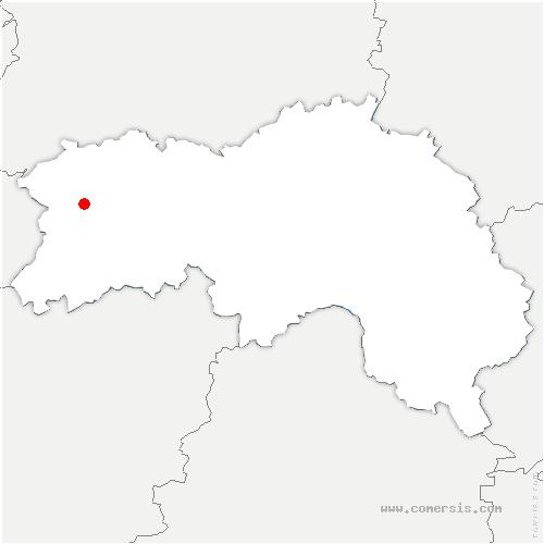 carte de localisation de Chapelle-au-Moine