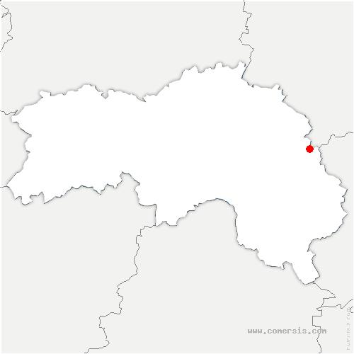 carte de localisation de Charencey