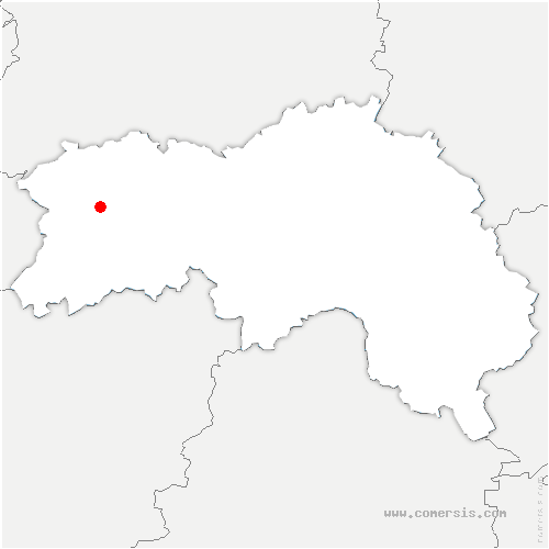 carte de localisation de Châtellier