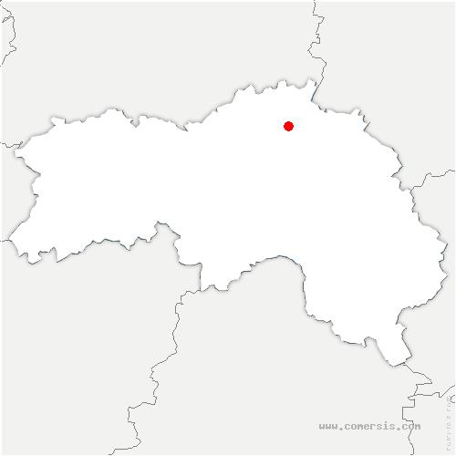 carte de localisation de Chaumont