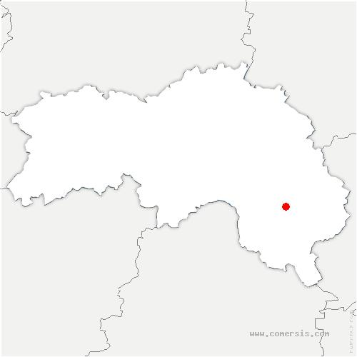 carte de localisation de Corbon
