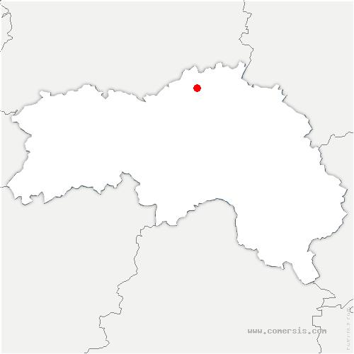 carte de localisation de Coudehard