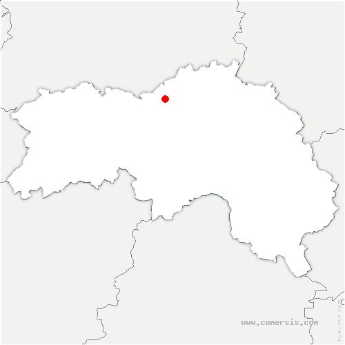 carte de localisation de Coulonces
