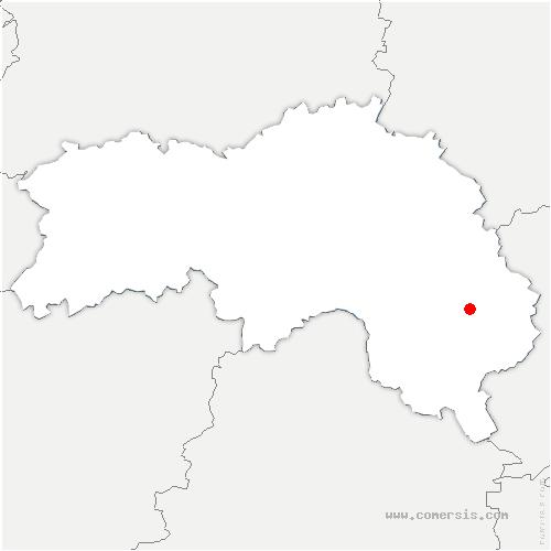 carte de localisation de Cour-Maugis-sur-Huisne