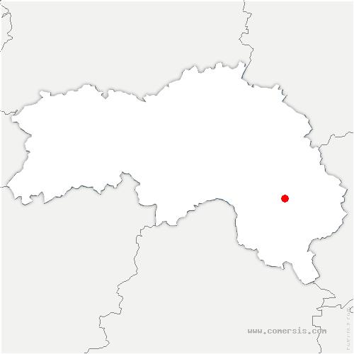 carte de localisation de Courgeon