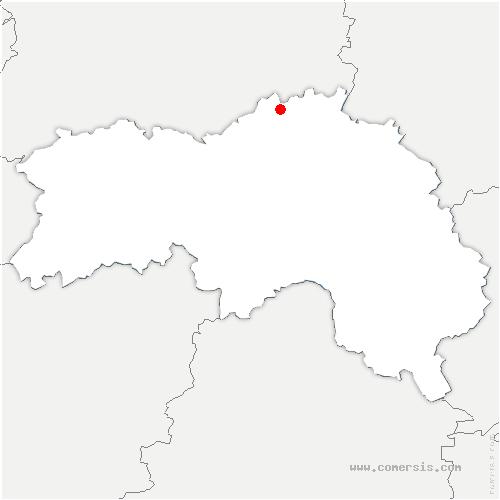 carte de localisation de Crouttes