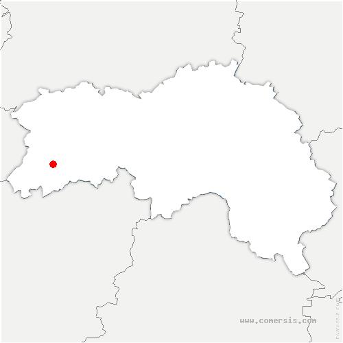 carte de localisation de Domfront-en-Poiraie