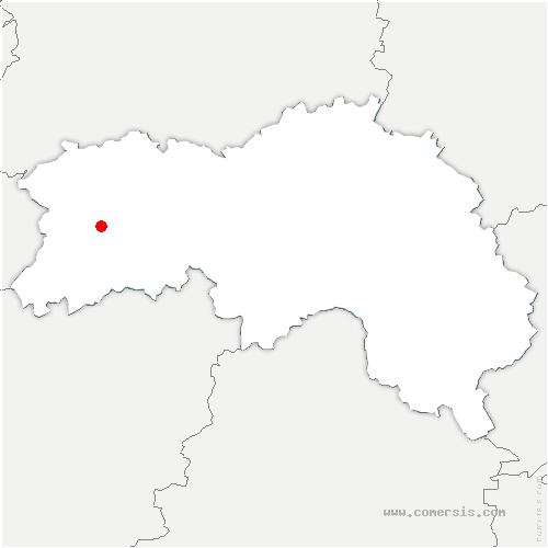 carte de localisation de Dompierre