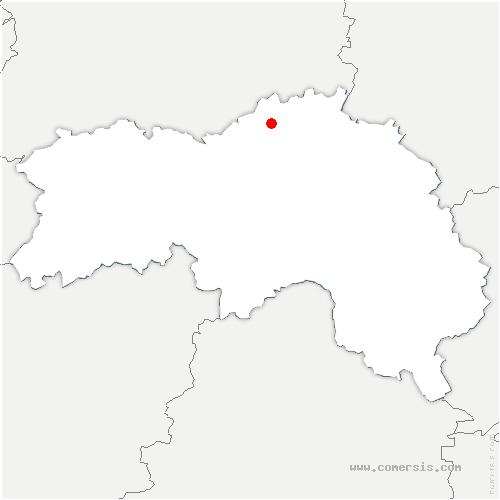 carte de localisation de Écorches
