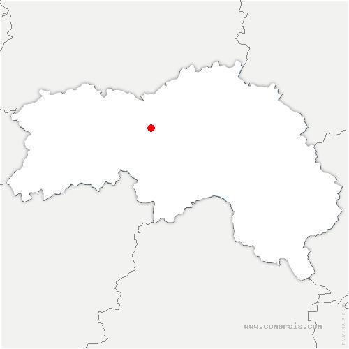 carte de localisation de Écouché-les-Vallées