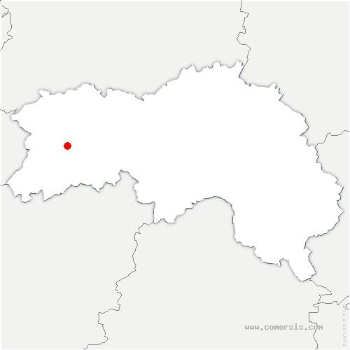 carte de localisation de Ferrière-aux-Étangs