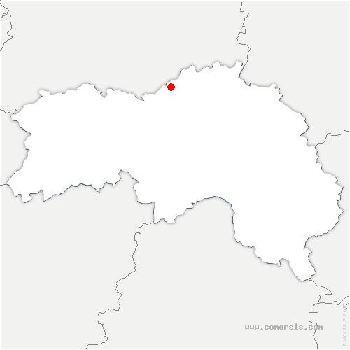 carte de localisation de Fontaine-les-Bassets