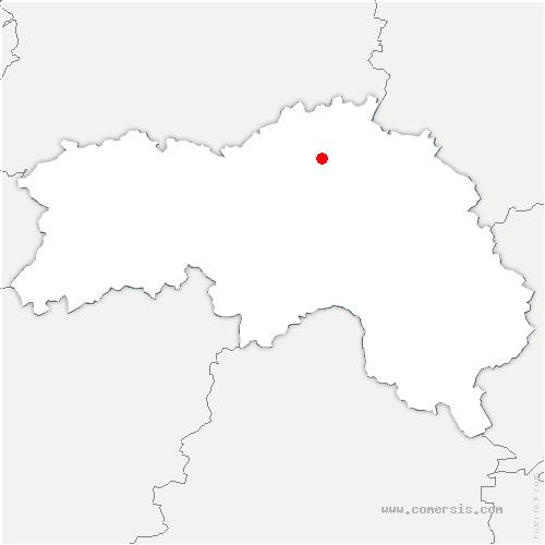 carte de localisation de Fresnaie-Fayel