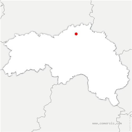 carte de localisation de Fresnay-le-Samson