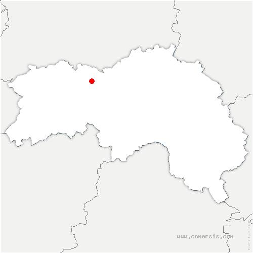 carte de localisation de Giel-Courteilles