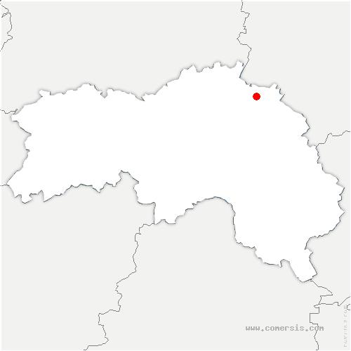 carte de localisation de Gonfrière