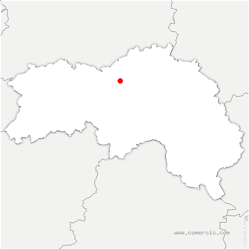 carte de localisation de Gouffern en Auge