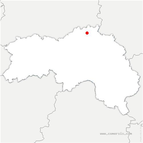 carte de localisation de Guerquesalles