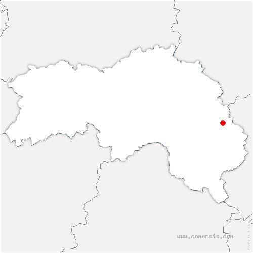 carte de localisation de Hôme-Chamondot