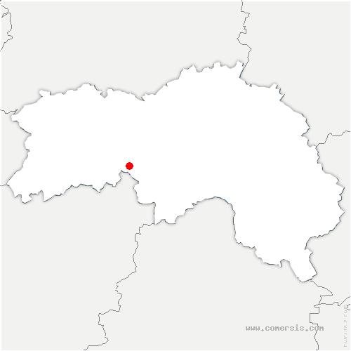 carte de localisation de Joué-du-Bois